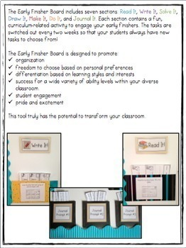 The Early Finisher Board™ Combo BUNDLE {Kindergarten, Gr.1 and Gr.2-4 versions}