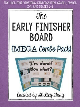 The Early Finisher Board™ MEGA BUNDLE {includes K, 1, 2-4 and 5-6 versions}