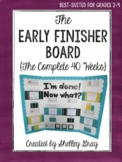 The {Grades 2-4} Early Finisher Board™: The Complete 40 Weeks