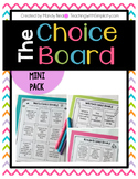 The Early Finisher's Choice Board - Mini Pack