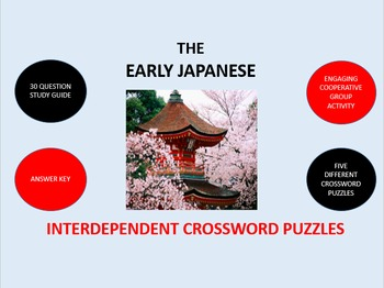 The Early Japanese:  Interdependent Crossword Puzzles Activity