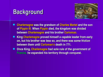 The Early Middle Ages - Key Figures - Charlemagne