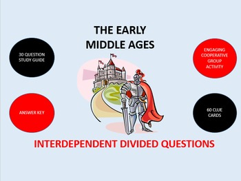 The Early Middle Ages: Interdependent Divided Questions Activity