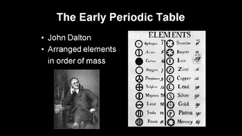The Early Periodic Table - periodic table 1