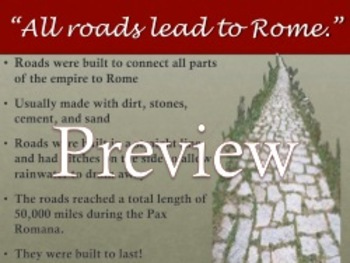 The Early Roman Empire/Pax Romana Powerpoint with Guided Notes