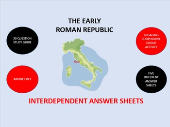 The Early Roman Republic: Answer Sheets Activity