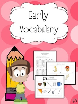 ENGLISH Vocabulary Resource & Progress Monitoring Packet for the Little Ones