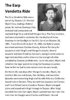 The Earp Vendetta Ride Handout