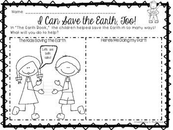 The Earth Book Extension Activities