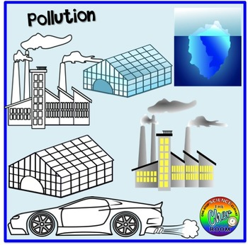 Earth Day Clipart (Sources of Energy, Carbon Cycle, Pollution)