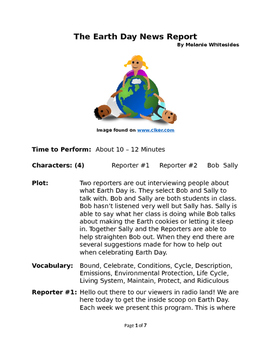 The Earth Day News Report - Small Group Reader's Theater