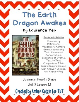 The Earth Dragon Awakes Activities 4th Grade Journeys Unit