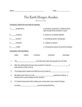 the earth dragon awakes quiz journeys grade 4 reader by vicki thompson. Black Bedroom Furniture Sets. Home Design Ideas
