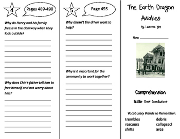 The Earth Dragon Awakes Trifold - California Treasures 4th Grade Unit 4 Week 4