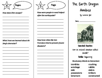 The Earth Dragon Awakes Trifold - Journeys 4th Grade Unit 3 Week 2 (2014, 2017)