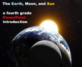The Earth, Moon, and Sun -  A Fourth Grade PowerPoint Introduction