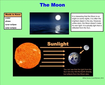The Earth, Moon, and Sun - A Fourth Grade SMARTBoard Introduction