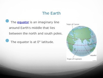 The Earth PowerPoint  - Longitude, Latitude, Relative Dating, Geologic Time