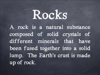 The Earth - Rocks & Minerals Facts PowerPoint