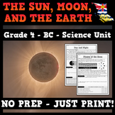 The Earth, Sun, and Moon - Axis, Rotation, and Orbit - BC Science Grade 4 Unit