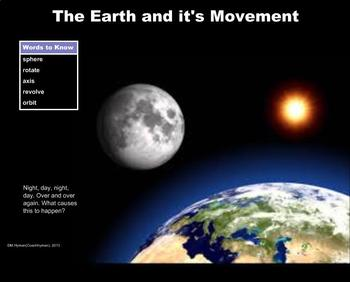 The Earth and It's Movement - A Third Grade PowerPoint Introduction
