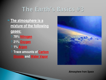 The Earth's Basics (The Right Planet) Power Point Presentation