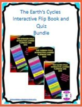 The Earth's Cycles Interactive Flip Book Bundle with Quizzes