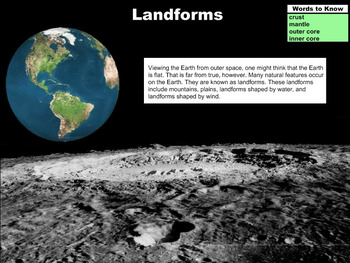 The Earth's Landforms -  A Fourth Grade PowerPoint Introduction
