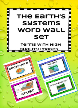 The Earth's Systems Word Wall - EDITED!!