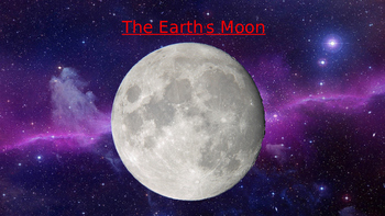 The Earth's moon powerpoint presentation