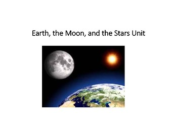 The Earth, the Moon, and the Stars Vocabulary Activity