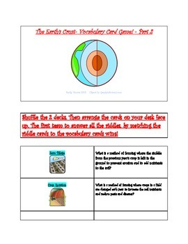 The Earth's Crust Vocabulary Riddle Game- Part 2
