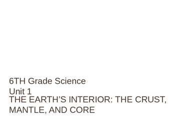 The Earth's Interior - Middle Grades Earth Science