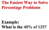 The Easiest Way to Solve Percentage Problems