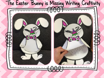 The Easter Bunny is Missing!!!  Wanted Poster, Writing Prompt & Craftivity