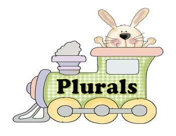 The Easter Bunny is Riding the Tracks to Find Eggs for His Cars! - Plural Nouns