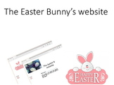 The Easter Bunny website (HTML) Computer Lesson
