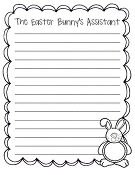 The Easter Bunny's Assistant Writing Paper