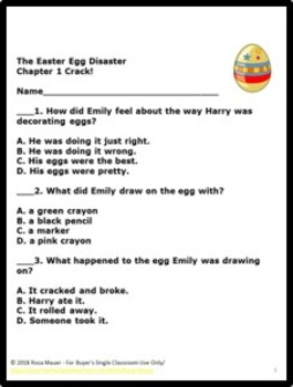 The Easter Egg Disaster Book Unit