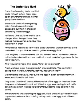 The Easter Egg Hunt - Sequencing and Comprehenion