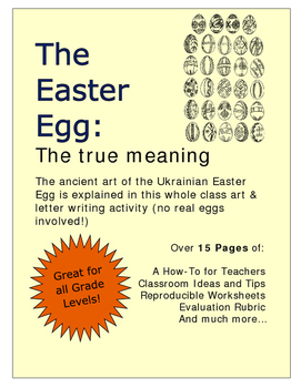 The Easter Egg: The true meaning An Art & Letter Writing Activity- No real eggs
