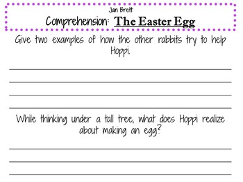 The Easter Egg by Jan Brett:  A Complete Literature Study!
