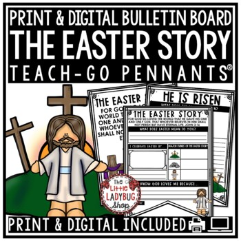 The Easter Story & Christian Easter Activity Poster • Teach- Go Pennants™