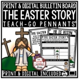 Holy Week Easter Story & Christian Easter Activity Poster Teach- Go Pennants™