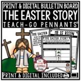 Print & Digital Christian Holy Week Easter Story Activity Teach-Go Pennants™