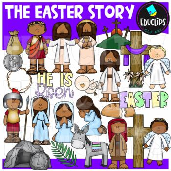 The Easter Story Clip Art Bundle {Educlips Clipart}
