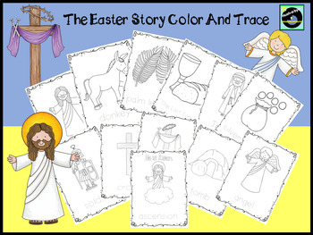The Easter Story Color And Trace