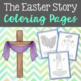 The Easter Story Coloring Page Craft or Posters, Bible Ver