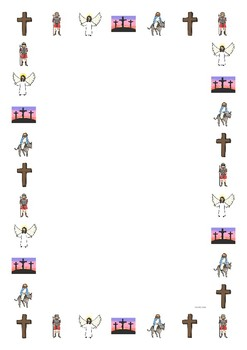 The Easter Story Portrait Page Borders