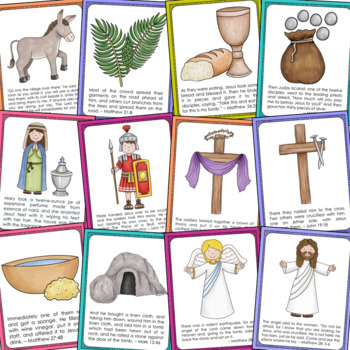The Easter Story Posters And Coloring Pages Set Sunday School Holy Week